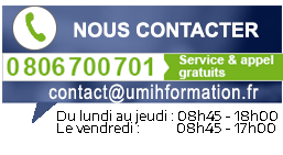 Informations de contact UMIH Formation